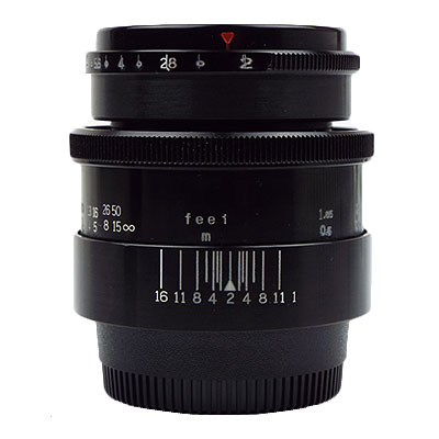 Carl Zeiss Jena Biotar 58mm/f2 ブラック NIKONマウント改造